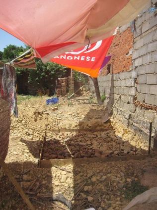 Fundament für Trockentoilette